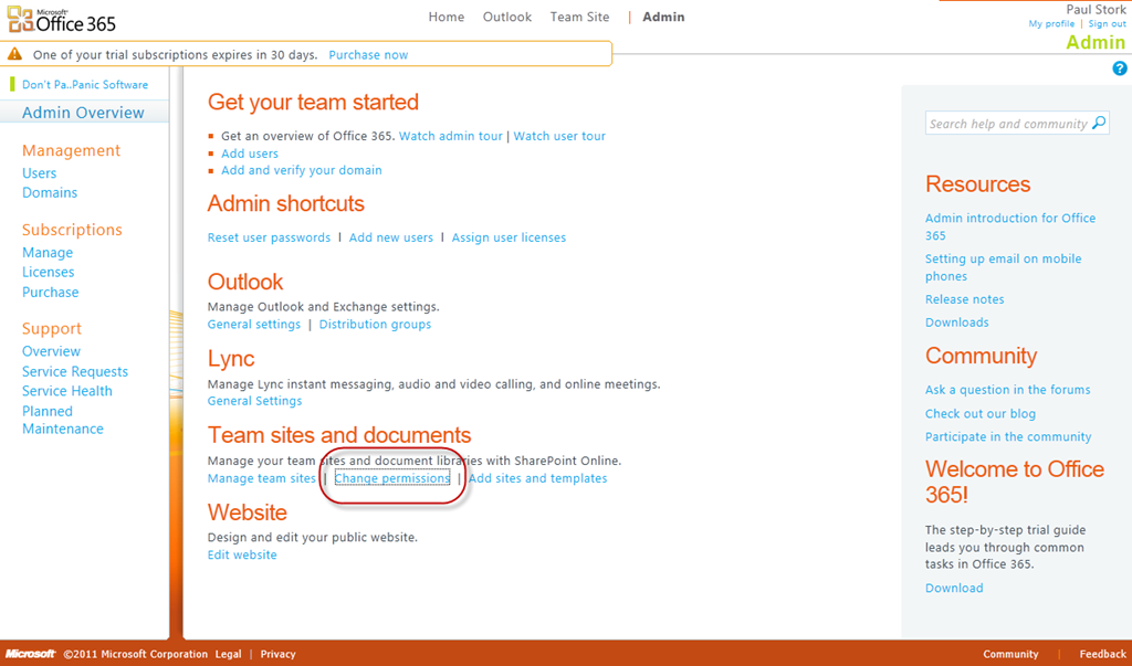Managing Default Permissions in SharePoint Online (Office