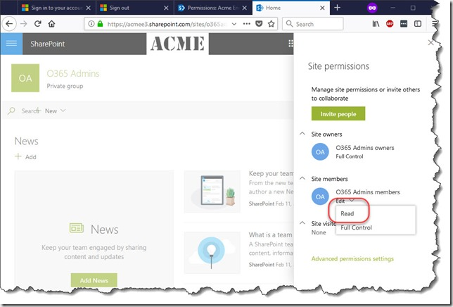 O365Change Group permissions